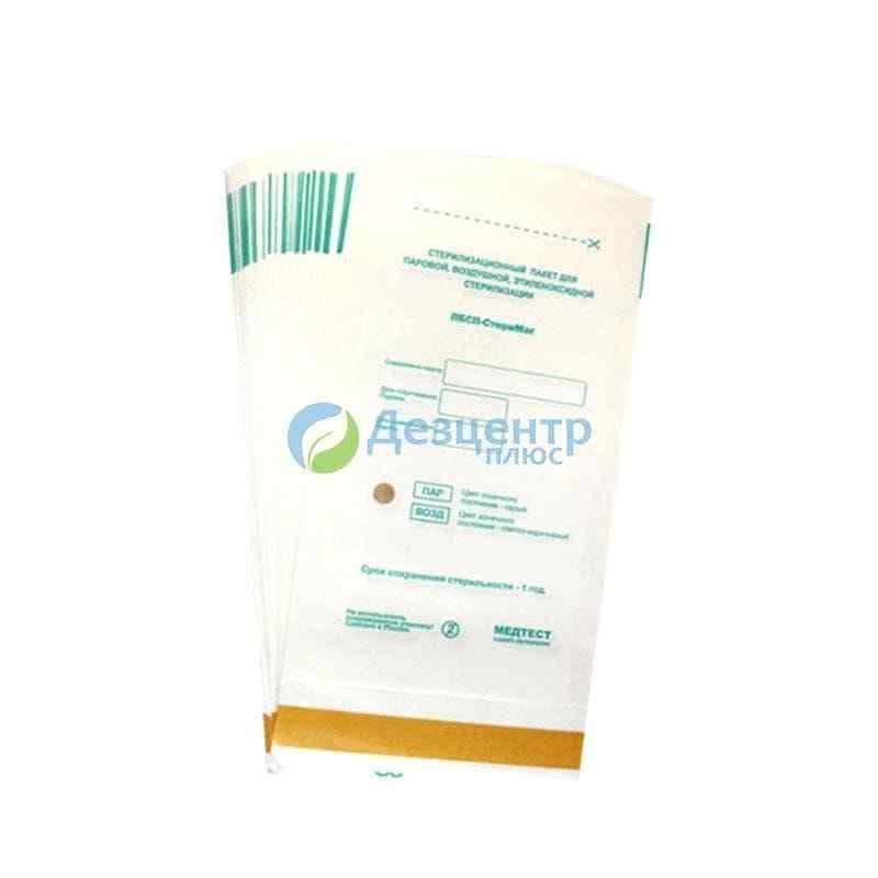 """Крафт пакети """"Медтест"""" з білого паперу для парової та повітряної стерилізації"""